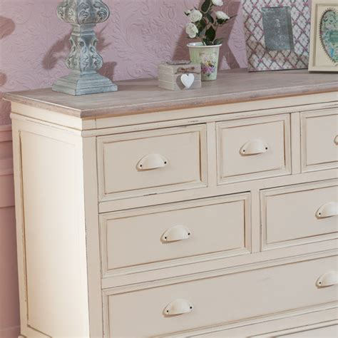 antique cream bedroom furniture cream 6 drawer chest french country shabby vintage chic