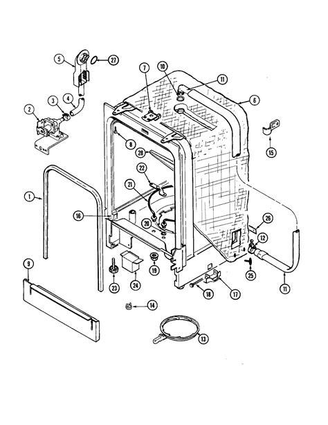 jenn air parts diagram tub diagram parts list for model dw711w jenn air parts