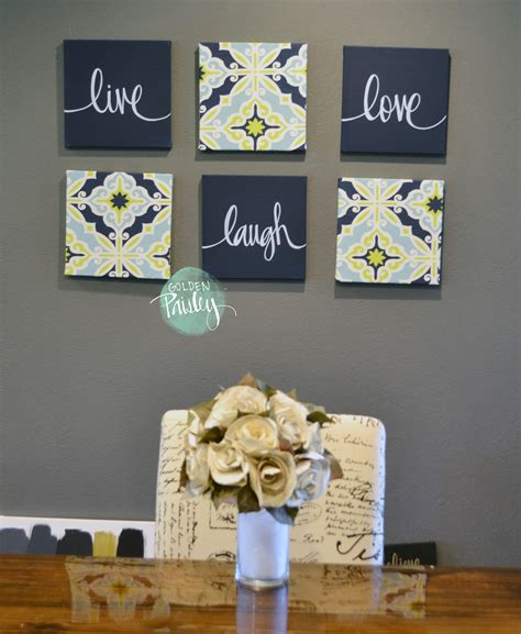 Navy Wall Decor by Navy And Lime Eat Drink Be Merry Chic Wall Decor Set