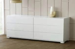 roma modern white lacquer dresser