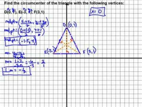 How Do You Find On Find Circumcenter Of A Triangle Using System Of Equations