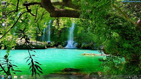 themes of nature by hd carberry windows waterfall wallpaper wallpapersafari