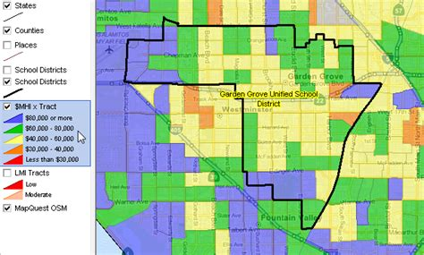 Garden Grove Ca City Boundary Largest 100 School Districts