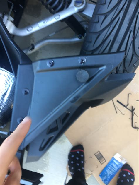 how do you a guard how do you remove these screws to remove the passenger side guard polaris slingshot