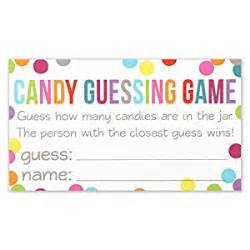 Where Can I Get Free Business Cards With Free Shipping Amazon Com Candy Guessing Game Cards Guess How Many In The Jar Confetti Polka Dot Card 3 5