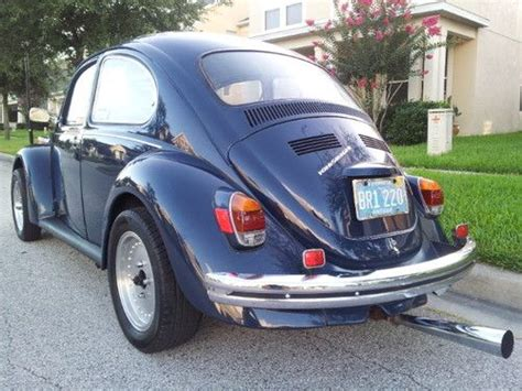blue volkswagen beetle 1970 buy used 1970 vw beetle cobalt blue excellent garage