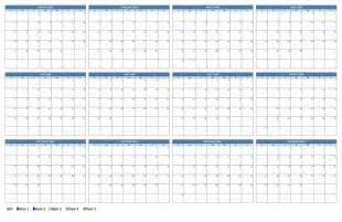 11x17 Calendar Template by Printable 11x17 Calendar 2016 Calendar Template 2017