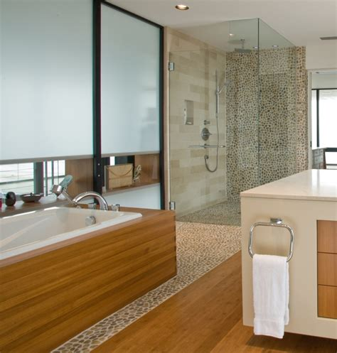 wood around bathtub 24 cool pictures of modern bathroom glass tile