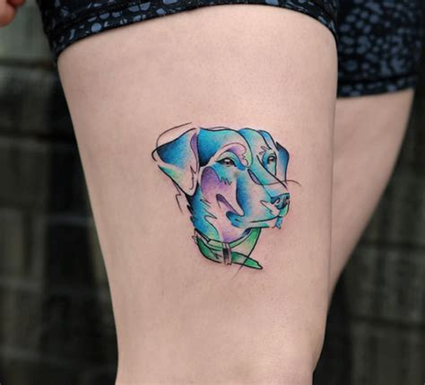 watercolor tattoo dog 40 amazing tattoos for tattooblend