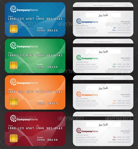 Credit Card Size Template Powerpoint Credit Card Style Paper Business Card Graphicriver