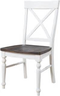 white x back dining chair mountain retreat brown and white x back dining chair set