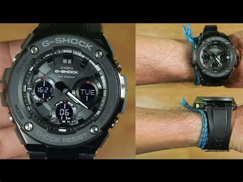 G Shock Gst S100g 1b casio g shock g steel gst s100g 1b black unboxing