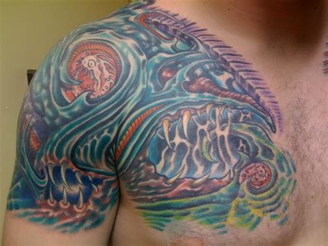 tattoo biomechanical chest biomechanical tattoos and designs page 120