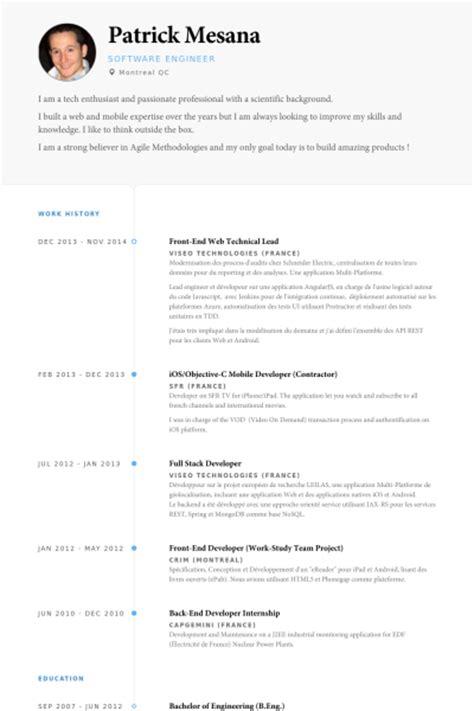 Technical Lead Resume by Technical Lead Resume Sles Visualcv Resume Sles Database