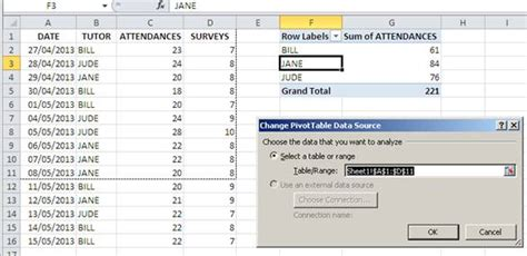 Change Pivot Table Data Range Pivot Tables On One Sheet Excel 2013 How To