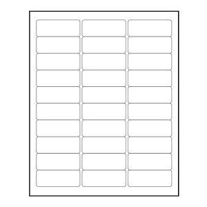 1 X2 5 8 Label Template 3000 blank 1 quot x 2 5 8 quot return address labels inkjet laser template 5160 ebay