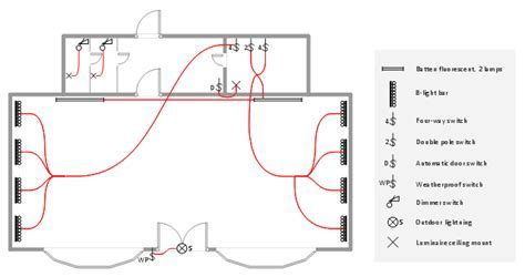 Lighting and switch layout