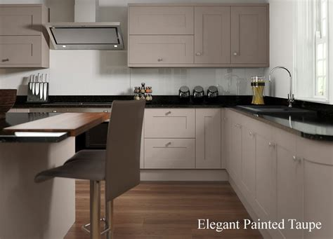 White Or Wood Kitchen Cabinets by Painted Kitchen Taupe