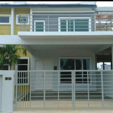 renovate rumah teres  tingkat desain dekorasi rumah