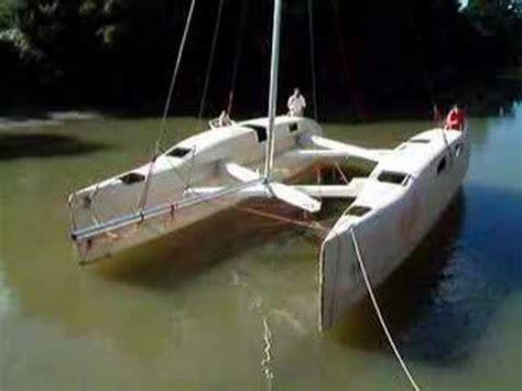 large folding catamaran youtube