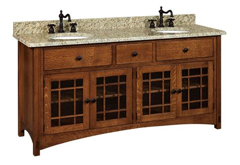 amish 72 quot lucern mission vanity cabinet