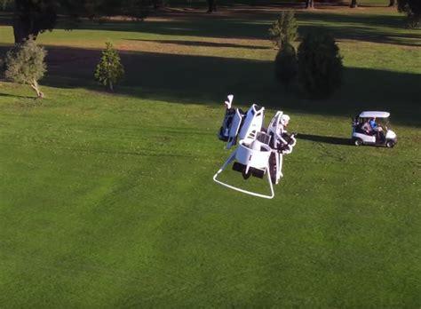 bubba watson swing vision death on hole 9 finally a jetpack golf cart geekologie