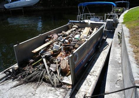 trash boat water city of fort lauderdale fl waterway clean up