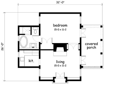 guest house floor plans 500 sq ft center chimney garden cottage plans content in a cottage