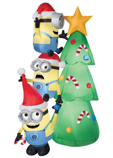 minions christmas tree airblown inflatable decorations