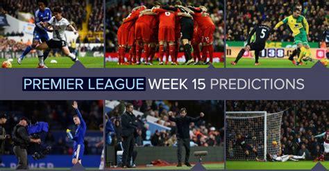 epl predictions this week english premier league predictions 201816