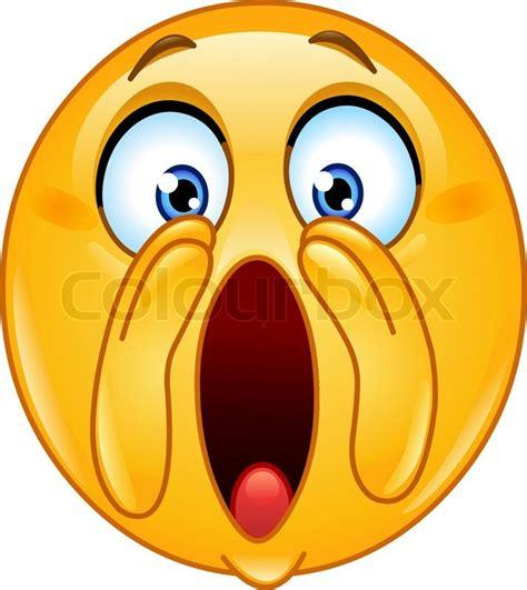 imagenes de emoji asustado schreien laut emoticon vektorgrafik colourbox