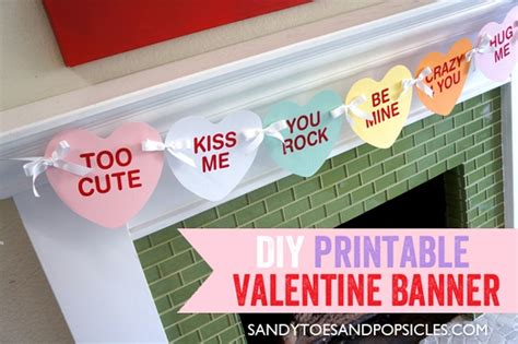 printable valentine banner 32 free valentine s day printables pretty my party
