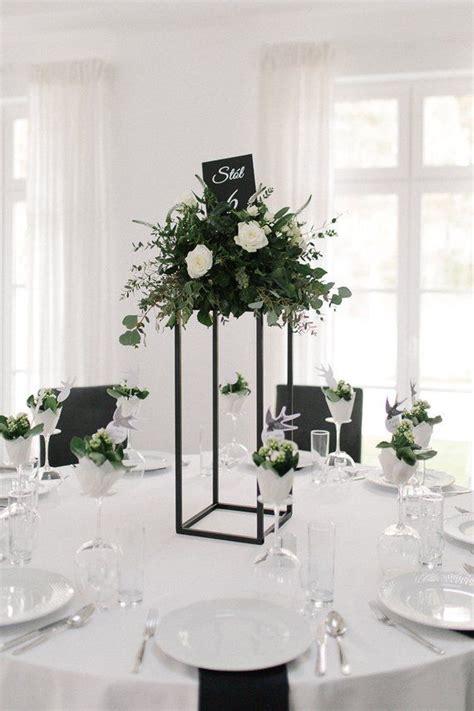 matte black modern rectangular tall metal stand wedding