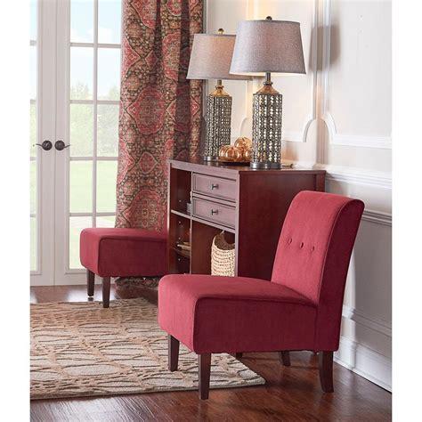 linon home decor linon home decor coco red fabric accent chair 36096red 01