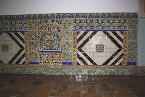 decorative wall tile murals tile mural embedded into a wall mexican home decor