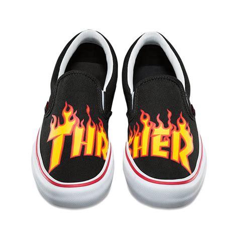 Trhasher X Vans vans x thrasher slip on pro shoe thrasher black billion creation streetwear