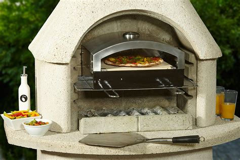 buschbeck stainless steel pizza oven insert fireplace
