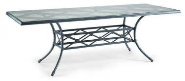 Rectangular Glass Patio Table Caign Rectangular Outdoor Dining Table With Glass Top Patio Furniture Traditional