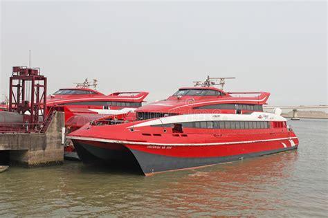 jet boat hong kong to macau turbo jet fast boat hong kong macau editorial stock image