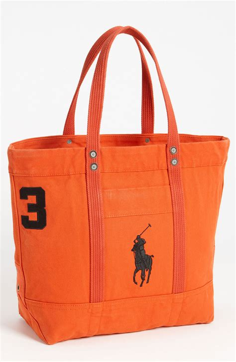 Totebag Polos Orange by Polo Ralph Big Pony Tote In Orange For Lyst