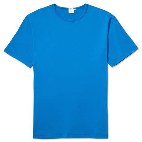 Tshirt Blur 1 sunspel classic t shirt in cornflower blue sunspel t shirts