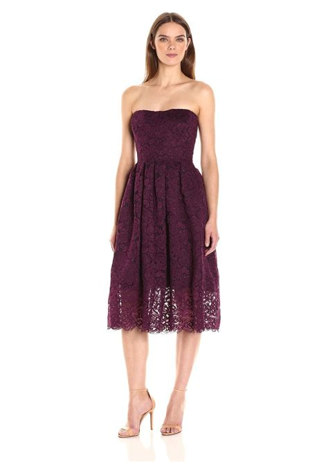 vera wang dresses cocktail dresses maxi dresses vera wang vera wang women s strappless lace tea length