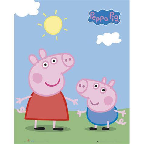 peppa pig george and b00qg5v4o4 peppa pig peppa and george mini poster 40 x 50cm iwoot