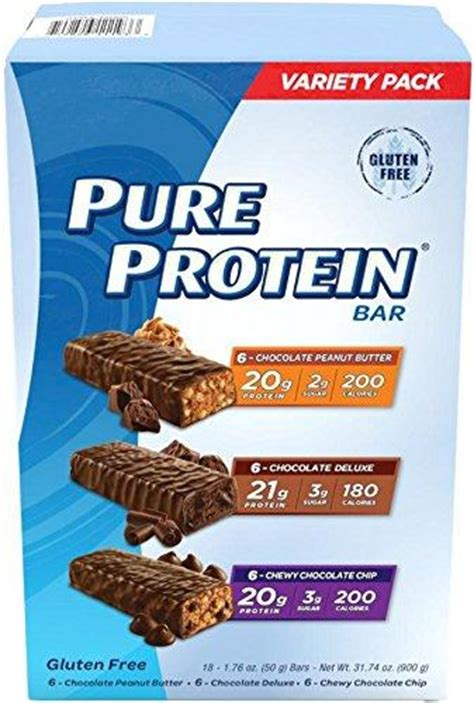 Protein Bar Gift Card - amazon com pure protein high protein bar variety pack 1 76 ounce bar pack of 18