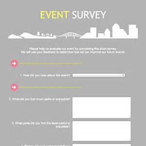 event survey template word formcentral template exchange