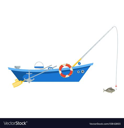 cartoon boat vector free cartoon fishing boat isolated on white background vector image