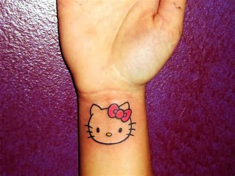 hello kitty tattoo on wrist 21 awesome hello tattoos on wrist
