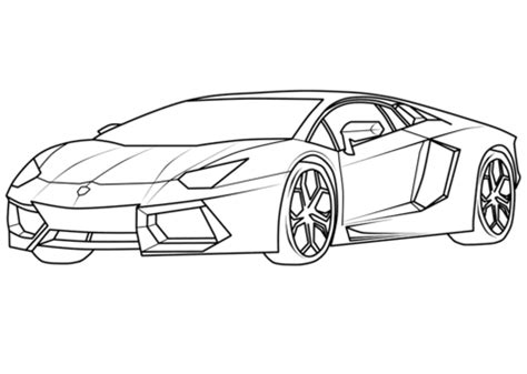 coloring pictures of supercars lamborghini aventador supercar coloring page free