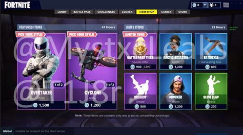 item shop  august     leaked