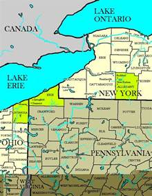 Map Of Ohio And New York by Nypaoh